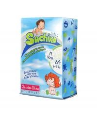 Подгузники Sachiko размер М 6-11кг 64шт, 001-002, 1 150.00 руб., Подгузники SACHIKO, Sachiko, Подгузники